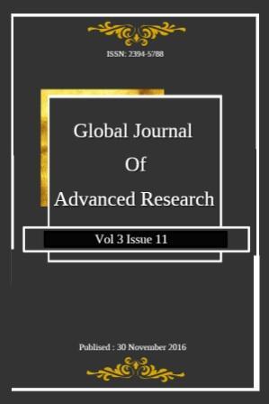 Global Journal of Advanced Research(GJAR)